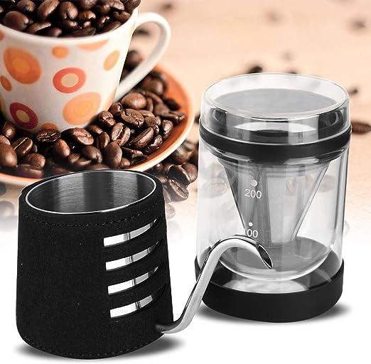 Juego de cafetera, filtro de acero inoxidable de dos pisos ...