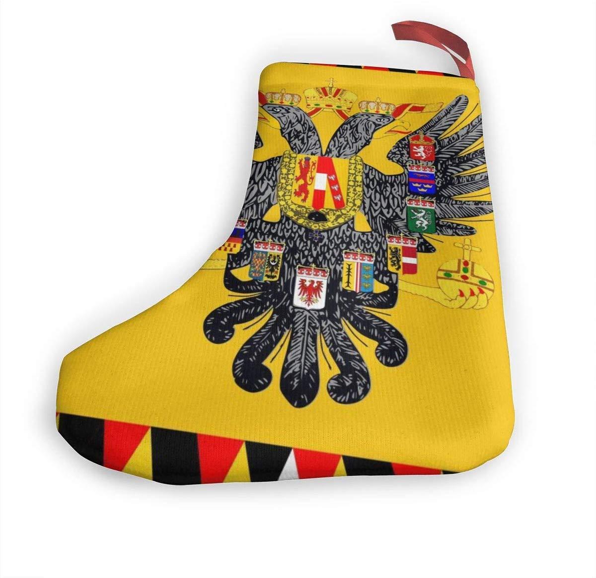 Azfaiop Christmas Stocking 10 Austro-Hungarian Empire Flag Hooked Xmas Stocking for Christmas