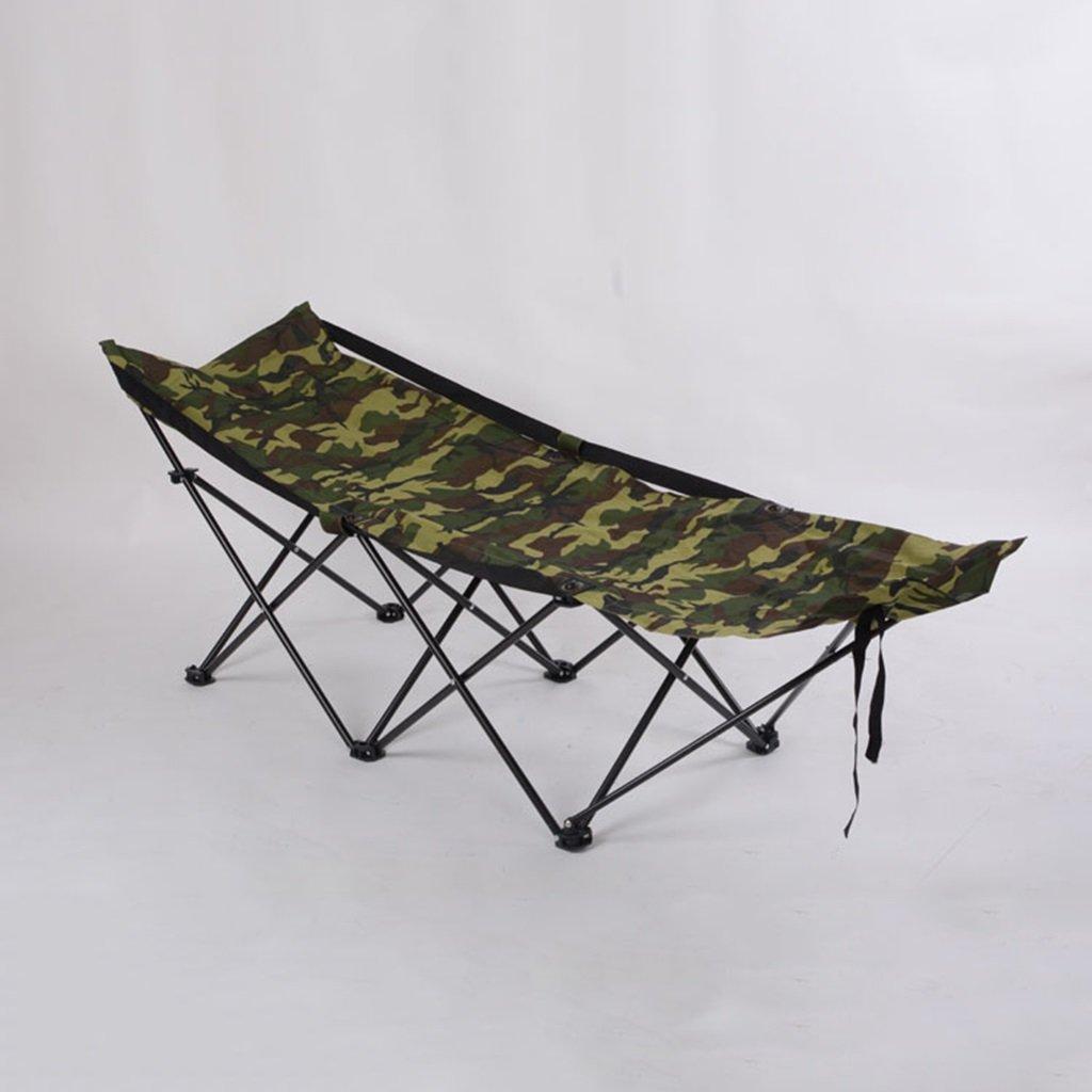 Stühle Klappbett im Freien Einzelne Reise Klappbett Büro Krankenhaus Bett Einfachen Strand Portable Klappbett (Farbe : Grün, Größe : 175  54  50 cm)