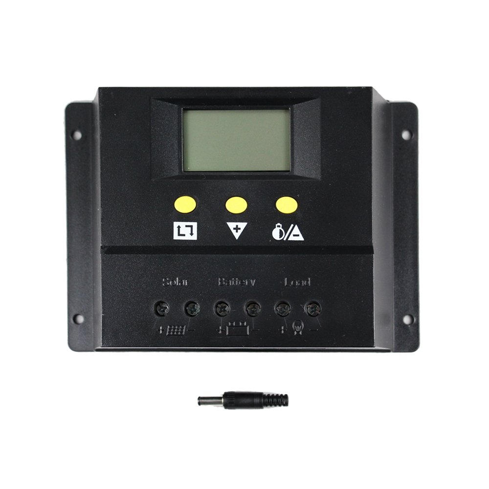 Y&H 60A Solar Charge Controller 12V/24V Solar Battery System Charging Regulators with LCD Display, Temperature Compensation Large amp Power Controllers