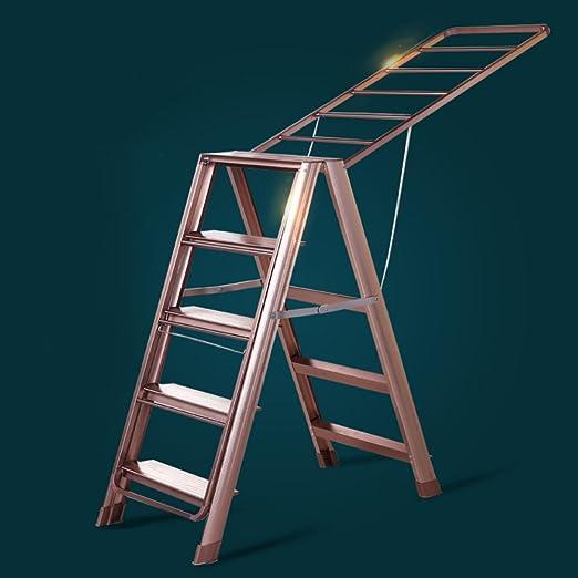 MQ&PQ Escalera multifunción tendedero,Aluminio aleación Piso ala casa Tipo balcón Secado edredón Marco Plegable Doble Uso tendedero-A: Amazon.es: Hogar