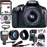 Canon EOS Rebel T6 DSLR Camera 18-55mm Lens, Memory Card, Flash, Bag, Battery Cleaning Kit