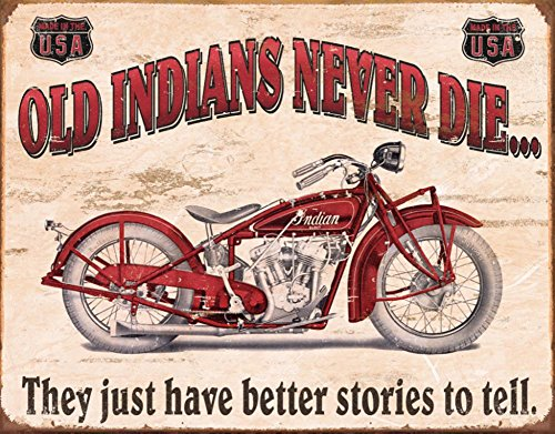 Indian - Better Stories Tin Sign 16 x 12in