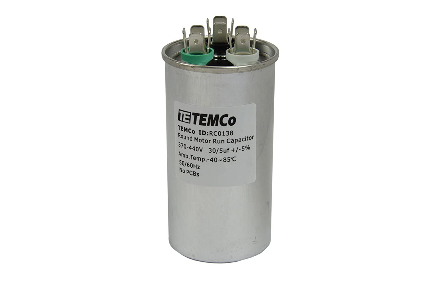 Amazon.com: TEMCo Dual Run Capacitor RC0138-30/5 mfd 370 V 440 V VAC volt  30+5 uf AC Electric Motor HVAC: Automotive