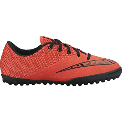 20c18173eb7 Amazon.com   NIKE Youth MercurialX Pro Turf (Bright Crimson/HOT Lava ...