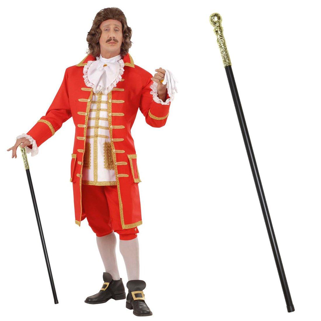 Sceptre de roi bâ ton de ré gent 107 cm Canne de noble renaissance baguette baroque sceptre rococo bâ ton accessoire carnaval dé guisement accessoire NET TOYS