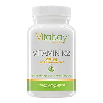 Vitamina K2 200 μG (menaquinone MK-7 Natural) (60 Pastillas Vegetales): Amazon.es: Salud y cuidado personal