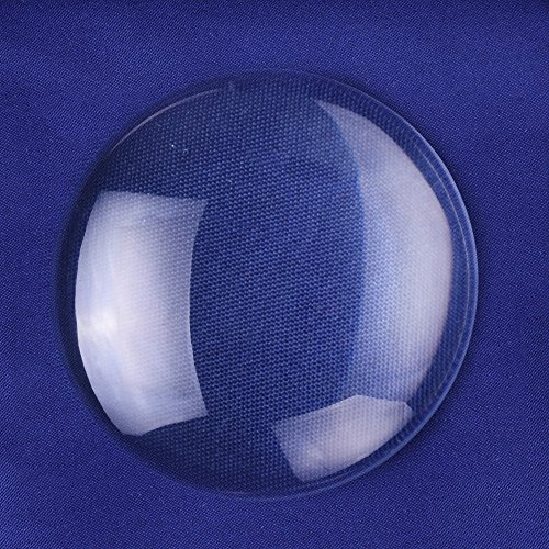 Rosebeading 50mm Round Flat Back Crystal Clear Glass Cabochon - Round 50mm