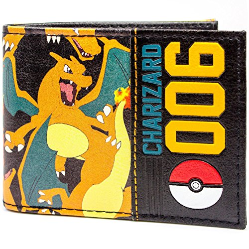 Pokemon ID amp; Charizard Wallet 006 Fold Card Orange Bi Pokeball rPxrIwqX