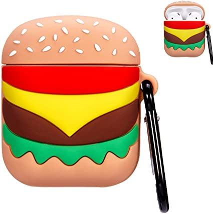 Amazon Com Punswan Hamburger Airpod Case For Apple Airpods 1 2