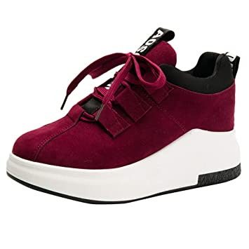 e68a527bc75 Chaussures De Sport Plates pour Femmes en Plein Air Décontractées  Plateforme à Semelles Épaisses Baskets Respirantes