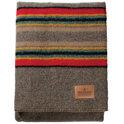 Pendleton Queen Size Blanket - Pendleton Wool Mineral Umber Yakima Camp Blanket, Queen