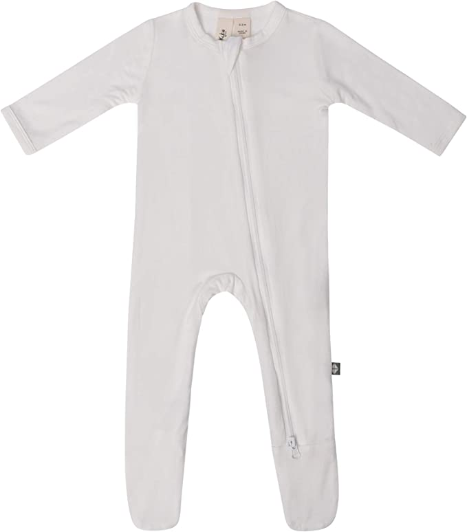 KYTE BABY Soft Bamboo Rayon Footies Zipper Closure 0-24 Months