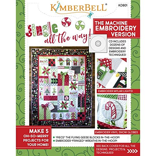 KIMBERBELL Jingle All The Way! Machine Embroidery CD & Sewing Book KD801 (Fringe Embroidery Design)