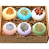 Organic Bath Bombs Gift Set For Women All Natural with Epsom Salt Relaxation Dead Sea Salt - Natural and Safe Bath Bombs Kit for Kids Her Mom Mother Grandma Girlfriend - Best Gifts Idea