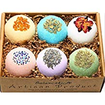 Organic Mother's Day Bath Bombs Gift Set For Women All Natural with Epsom Salt Relaxation Dead Sea Salt - Natural and Safe Bath Bombs Kit for Kids Her Mom Mother Grandma Girlfriend - Best Gifts Idea