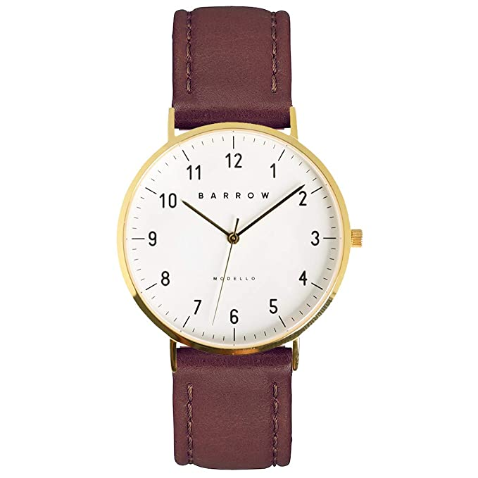 The Barrow Modello, Gold Watch | Brown Leather + Mesh travel product recommended by Katie Rose Cronin on Pretty Progressive.