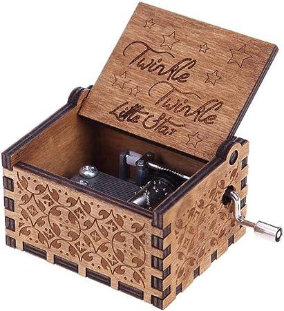 BWYFGRT Caja de música Antigua La Vie En Rose Caja de música Tema Musical Caixa De Musica Navidad para niños. C: Amazon.es: Hogar