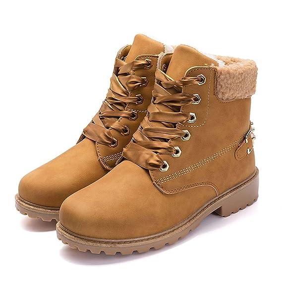 Beladla Zapatos De Mujer Estilo BritáNico Botas Navidad Zapatos De OtoñO E Invierno Botines Zapatos De Invierno Tacones: Amazon.es: Ropa y accesorios