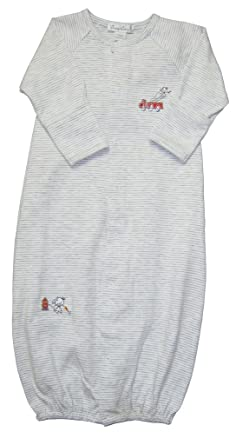 ff502e0ff30 Amazon.com  Kissy Kissy Baby-Boys Infant Fire Chief Stripe Convertible  Gown-Gray and White-Newborn  Clothing