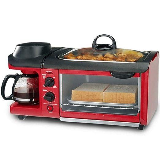 MBBJJ Horno Tostador Multifuncional 3-en-1 Breakfast Hub, cafetera ...