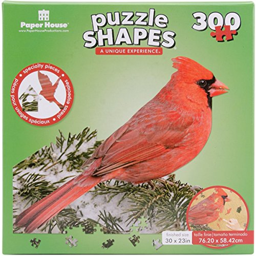 Paper House Jigsaw Shaped Puzzle (300-Piece), 23 x 30