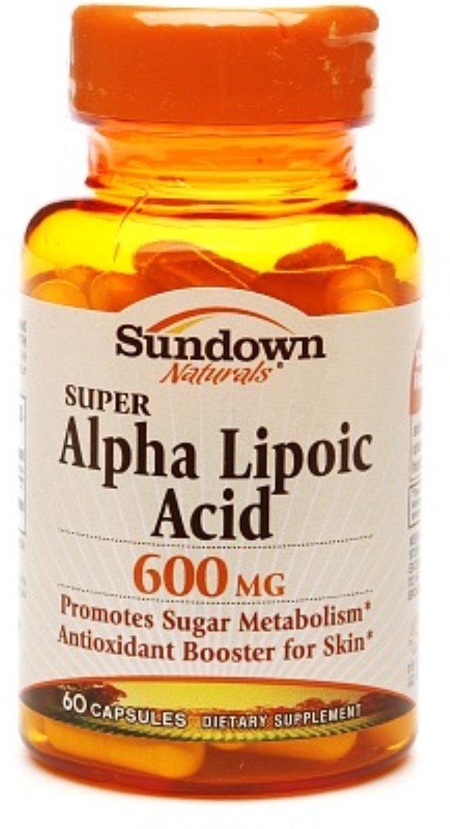 Sundown Naturals Super Alpha Lipoic Acid, 600mg, Capsules 60 ea (Pack of 7)