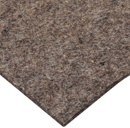 Grade F3 Pressed Wool Felt Sheet, Gray, Meets SAE J314, 3/16'' Thickness, 48'' Width, 60'' Length by Small Parts