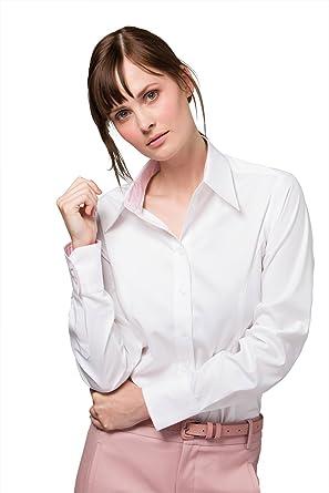 78ba2a1ddeb3 KUSTOM KIT New Damen Kontrast Premium Formale Office Oxford Shirt Long  Sleeve Gr. 40,