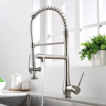 Gimili Commercial Kitchen Faucets with Pull Down Sprayer Stainless