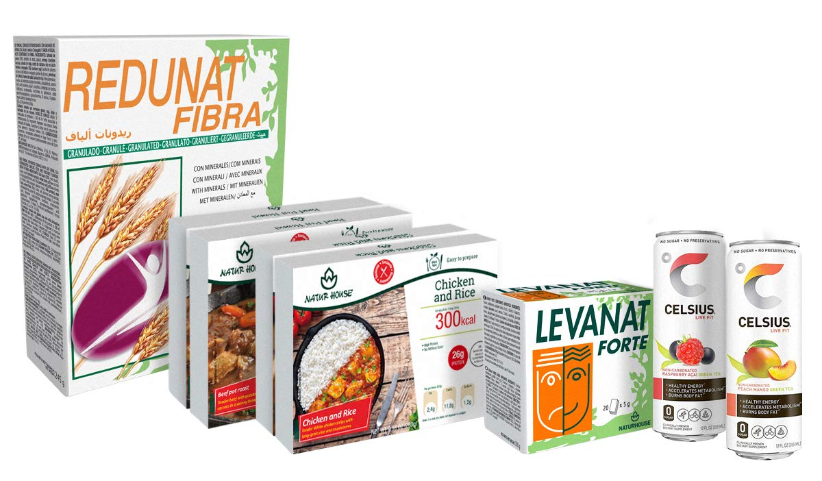 Naturhouse Pack Express - Complete 2 Days Weight Loss Plan - Comes with 4 Meals, 2 Weight Loss Drinks, Fiber, Supplement and More by Naturhouse (Image #2)