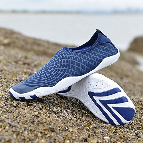 Sitaile Uomo Donna Quick Dry Aqua Shoes Leggero Outdoor Sport Scarpe Da Spiaggia Da Spiaggia A Piedi Nudi Darkblue