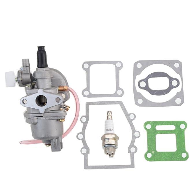GOOFIT 2 Tiempos 13mm Minimoto Carburador Motor con Pistones y ...