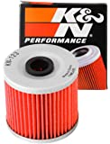 K&N Motorcycle Oil Filter: High Performance, Premium, Designed to be used with Synthetic or Conventional Oils: Fits…