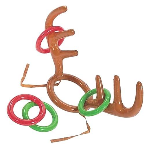 Kicode inflable Navidad Reno Sombrero de la cornamenta Con ...