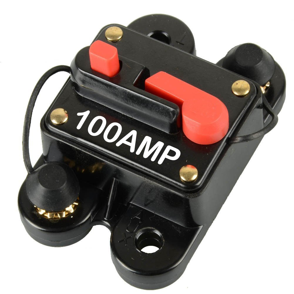 6 /& 8 Gauge Circuit Breaker Fuse for Auto Car Stereo//Audio Protection ULWAuto DC 12-24V 100A In-Line 4 100 AMP