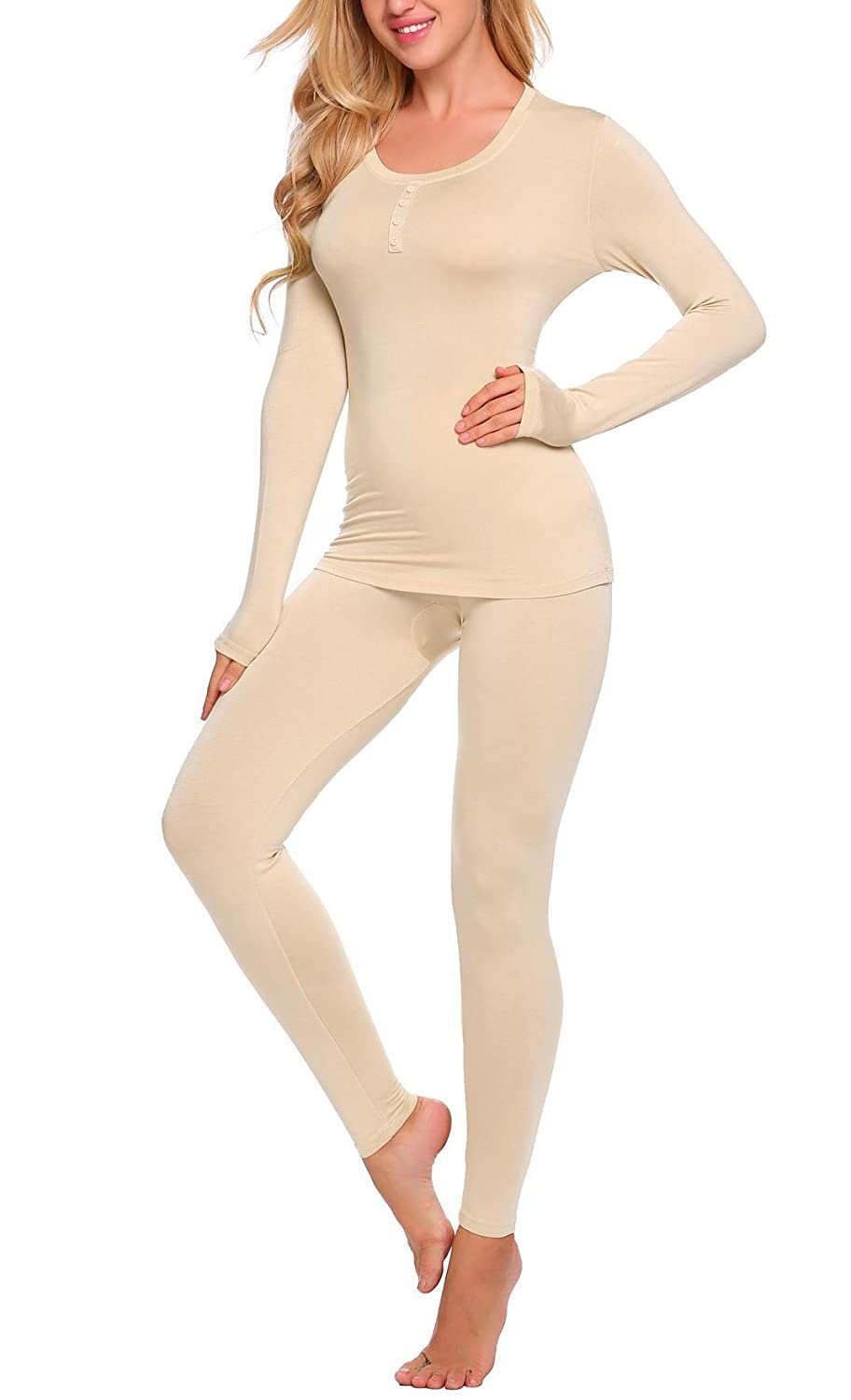 Goldenfox Ultra Soft Thermal Sets for Womens Wicking Cotton Underwear Long  Johns S-XXL at Amazon Women s Clothing store  ee42a242cba