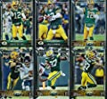 Green Bay Packers 2015 Topps NFL Football Complete Regular Issue 25 Card Team Set Including 5 Aaron Rodgers Cards, Clay Matthews, Eddie Lacy Plus