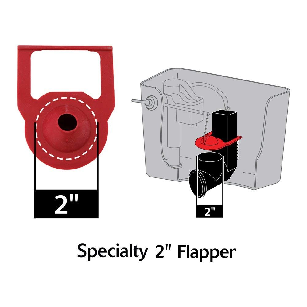 Korky 2011BP Hinge Flapper For Kohler Toilet Repairs - Replaces Kohler Parts 84995 and 1000490 - Made in USA (2-(Pack)) by Korky
