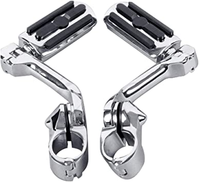 """1.25/"""" Highway Bar Foot Pegs Footrest W//Mount Fit For Harley Sportster Dyna Black"""