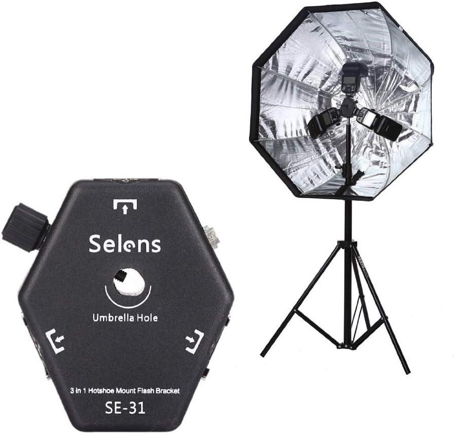 Adaptador Universal para Luces de v/ídeo de Fotos reflectores Paraguas Montaje en Techo Selens Brazo Ajustable con Rosca de 3//8 Pulgadas Brazo de Montaje en Pared para fotograf/ía