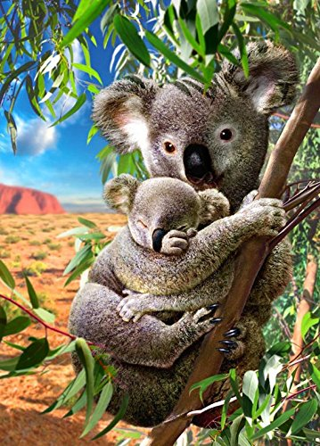 Yumeart 3D Diamond Painting Koala Cross Stitch Pattern 5D Diamond Embroidery Mosaic Kits Resin Art Crafts Home Decal - $25.55