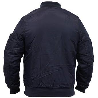 Mens Jacket Brave Soul Long MA1 Harrington Military Baseball Coat Lightweight