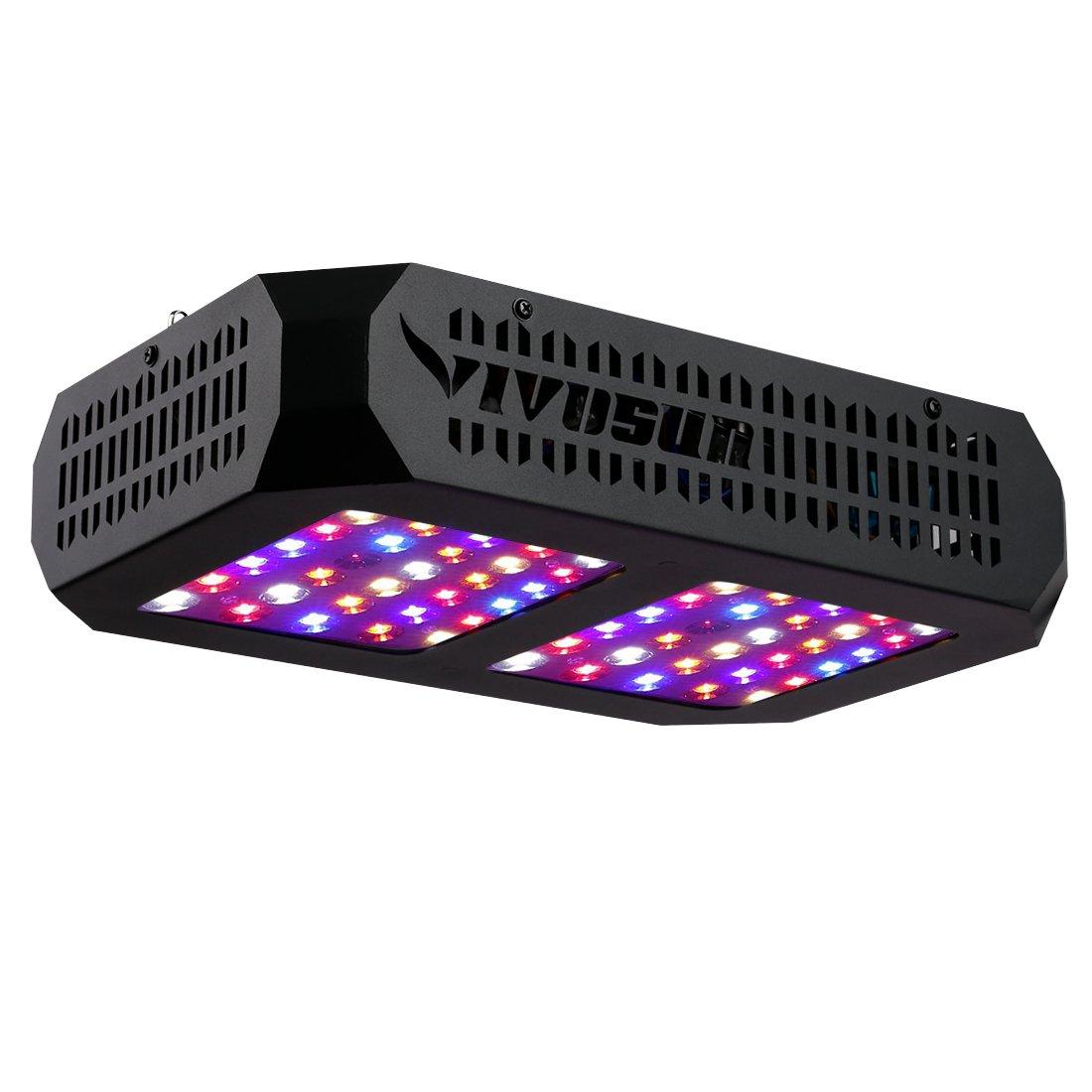 VIVOSUN 300W LED Grow Light Full Spectrum for Hydroponic Indoor Plants Growing Veg and Flowering