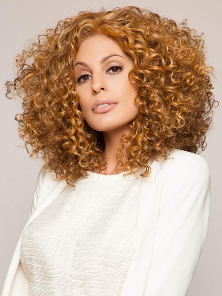 Mellow Hair Curly Wig Blonde Wigs for Women Synthetic Wigs Female African Wigs(Blonde)