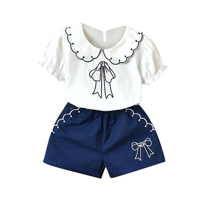 6 Morwind Ragazze E Con Pantaloni 4 5 Maglietta Completo Bambine araxgz