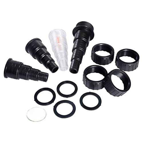 Spiral stepped hose adapters, union nuts and seal