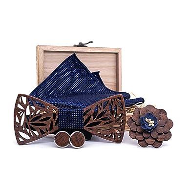 MI TU Caja de regalo de madera con forma de corbata de moño ...