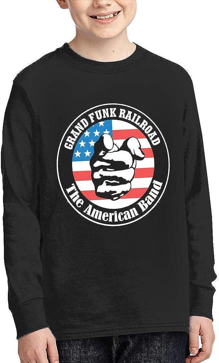 Kilsd Boys /& Girls Junior Vintage Grand Funk Railroad Long Sleeve Tshirts Black
