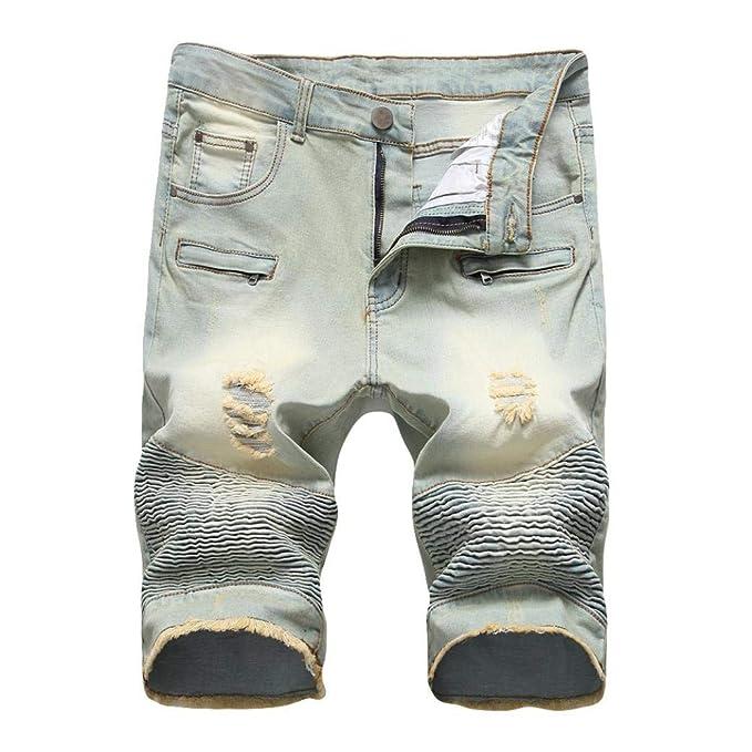 Pantalones Cortos para Hombre De Vaqueros Pantalones Verano ...